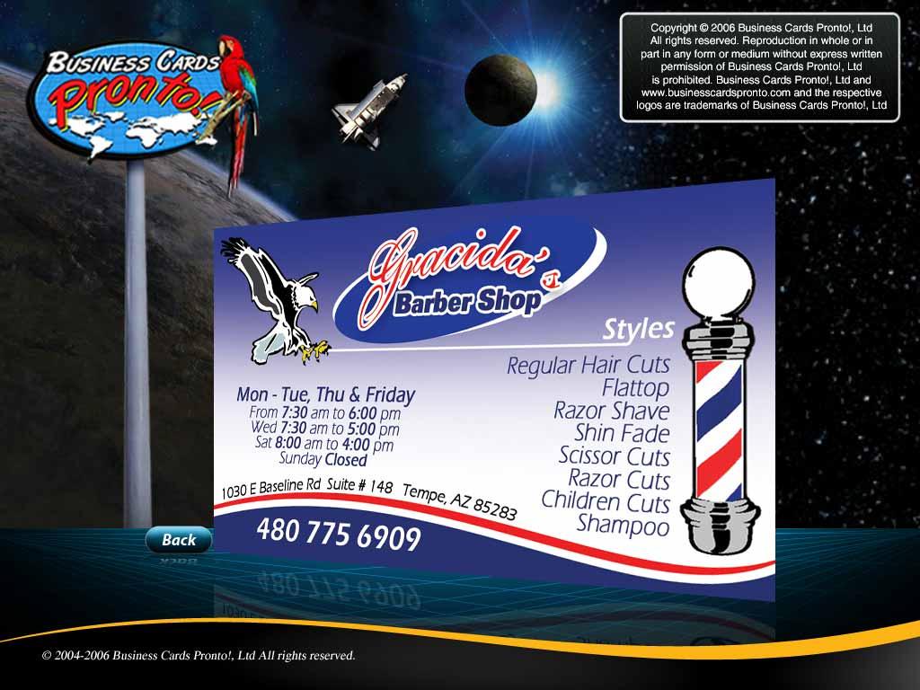 barber logos business cards - photo #26