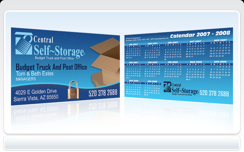 Business cards pronto central self storage central self storage business card colourmoves
