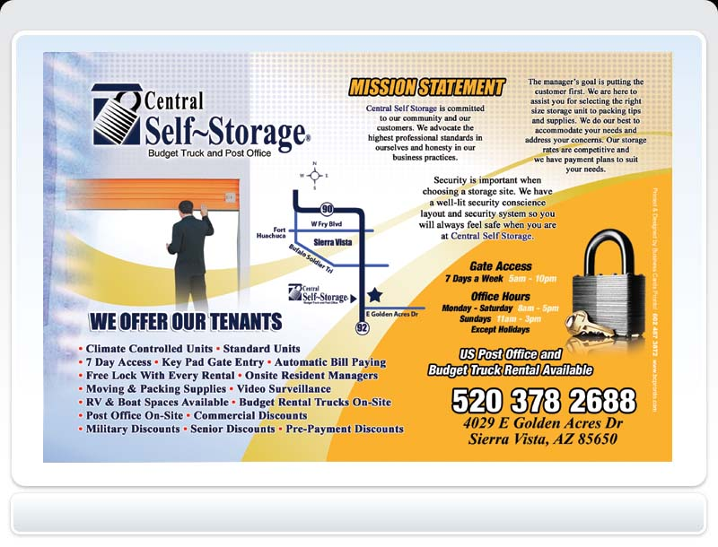 Business Cards Pronto! - Central Self Storage