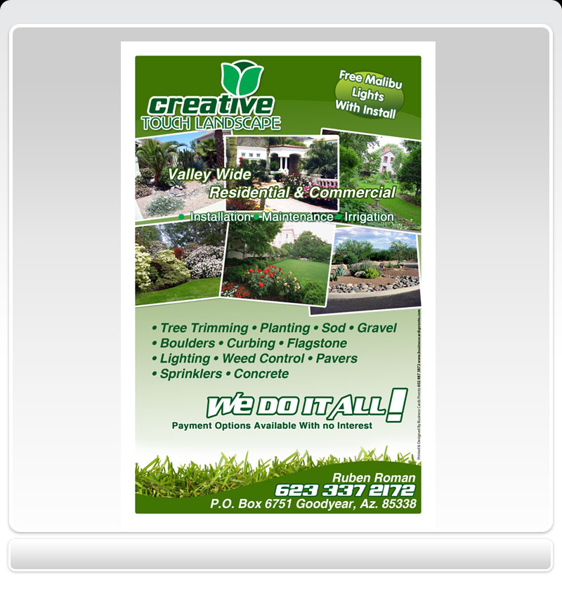 Bl: Design landscaping business cards Learn how