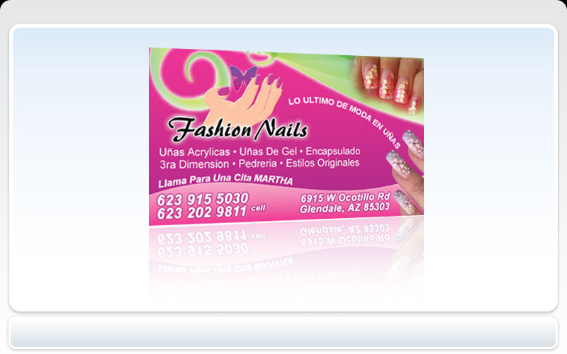 Business cards pronto fashion nails colourmoves Image collections