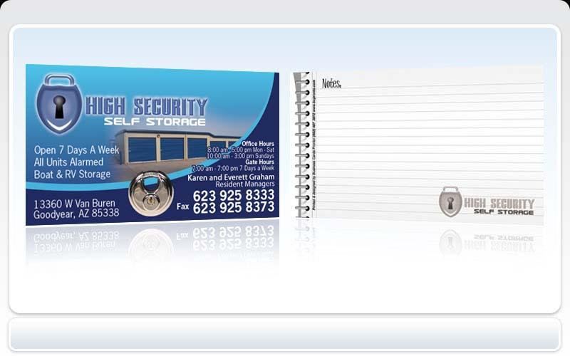 Business cards pronto high security self storage colourmoves