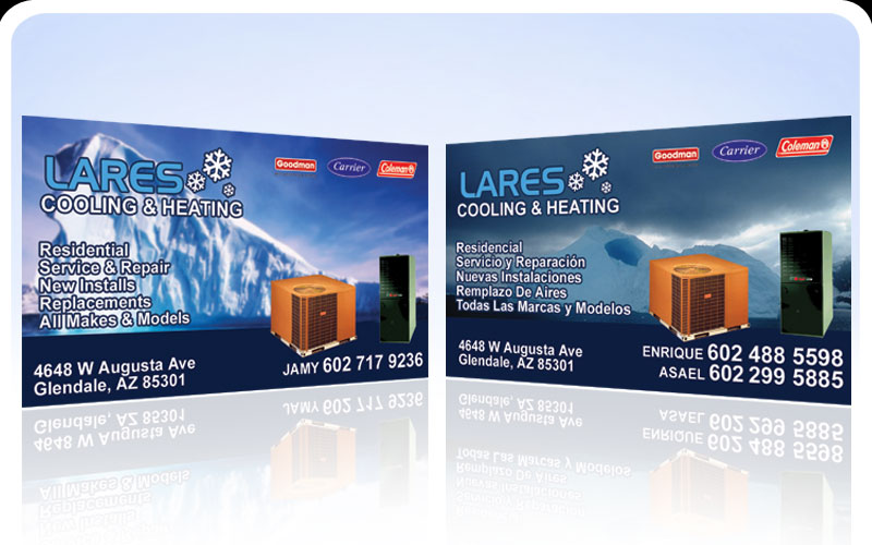 Business cards pronto lares cooling heating the logo of lares cooling heating is the property of business cards pronto you can aquire the rights and ownership of the logo please ask us how colourmoves
