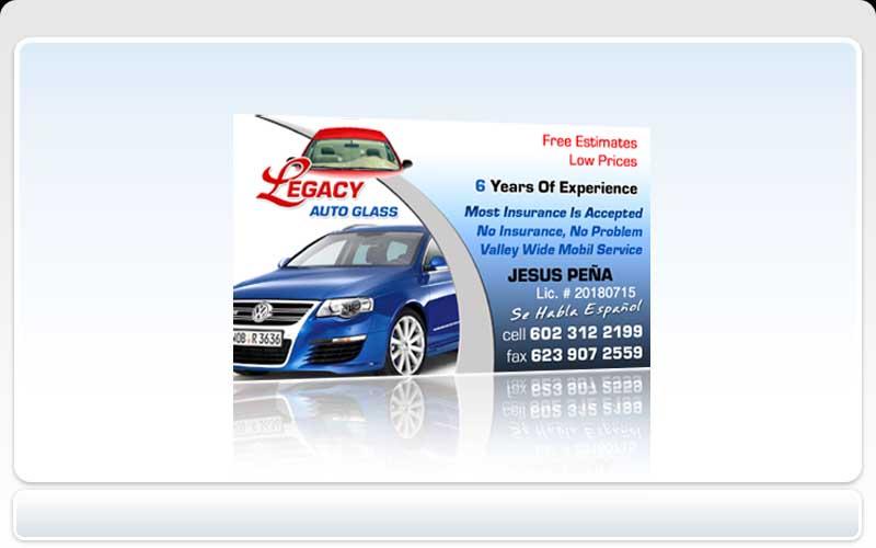 business cards pronto legacy auto glass