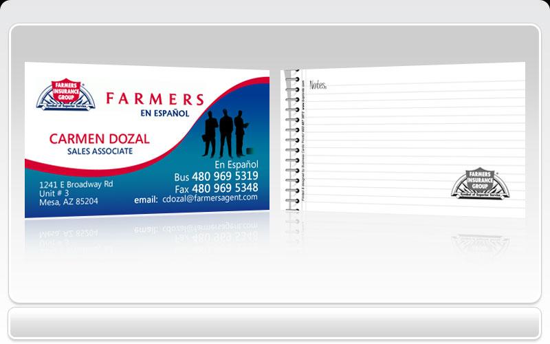 Business cards pronto farmers insurance group colourmoves