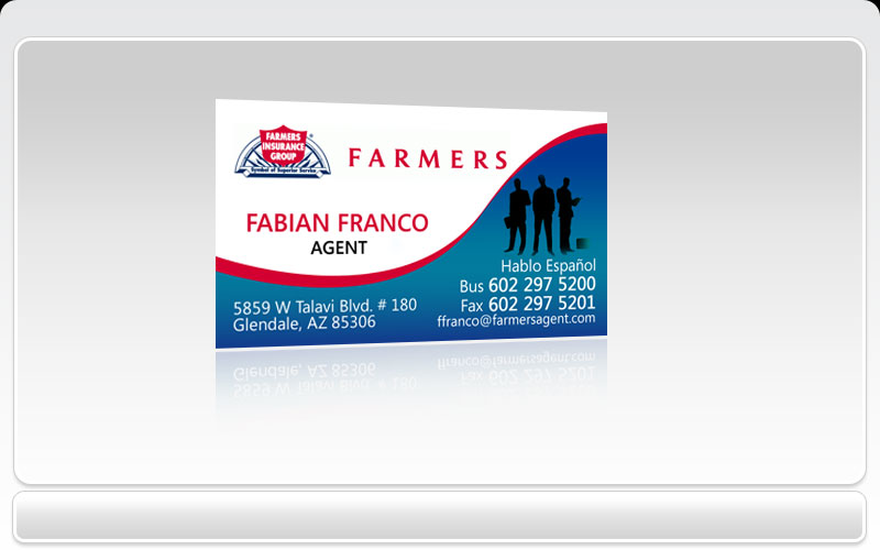 Business Cards Pronto Farmers Insurance Group